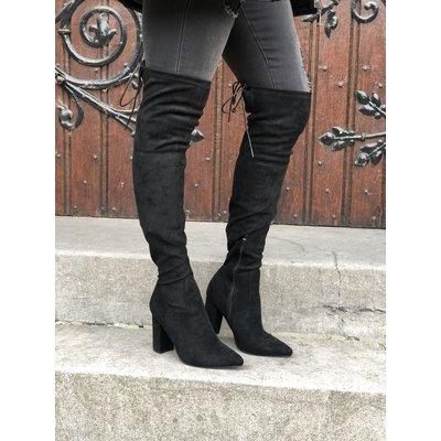 Jaimy Forever overknee boots BLACK
