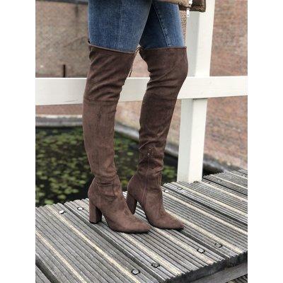 Jaimy Forever overknee boots BEIGE