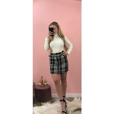 Jaimy Tweed skirt BLACK
