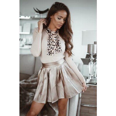 Jaimy Leather look skirt GOLD