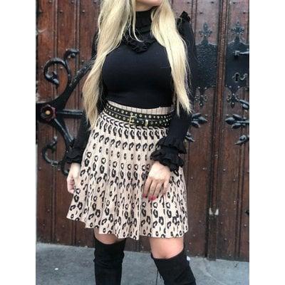 Jaimy FAV leopard skirt BEIGE/BLACK