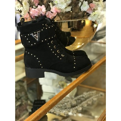 Jaimy The queen V STUD boots SUEDE