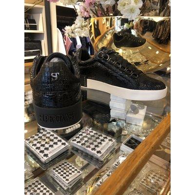 SUPERTRASH Supertrash LINA low sneaker SNAKE BLACK