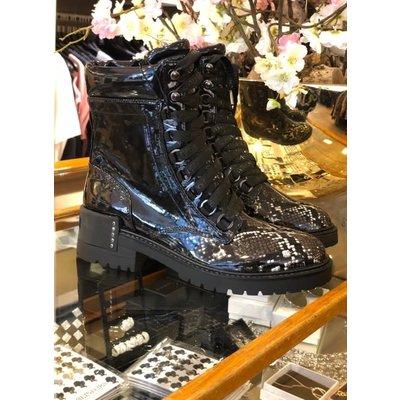 Supertrash BIBI high snake boots black