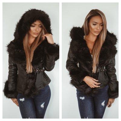 Jaimy EXCLUSIVE BRITNEY leather look jacket