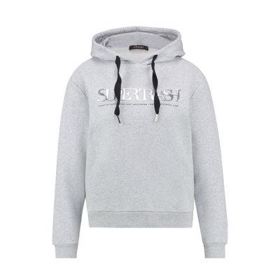 Supertrash Logo hoodie grey