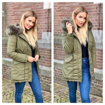 Jaimy Bella 2waystowear jacket arme green