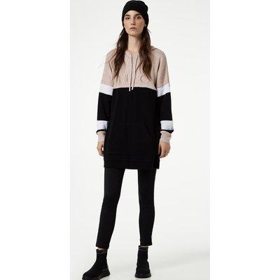 Liu Jo long-line hooded sweatshirt
