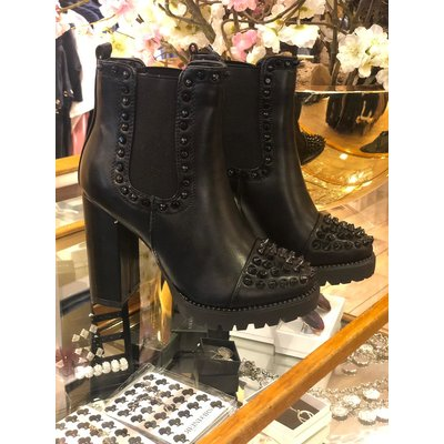 Jaimy Black studded ankle boots