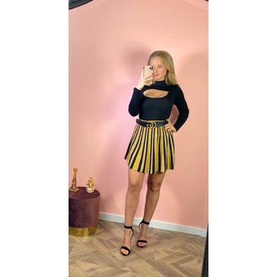 Jaimy Bali sparkle skirt black yellow