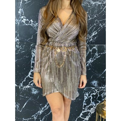 Jaimy Macy golden dress