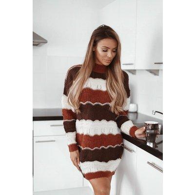 Jaimy Myla sweaterdress brown
