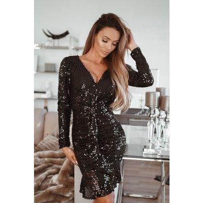 Jaimy nora sequin dress black