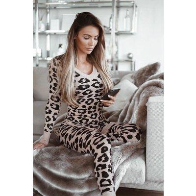 JAIMY Leopard lounge wear set