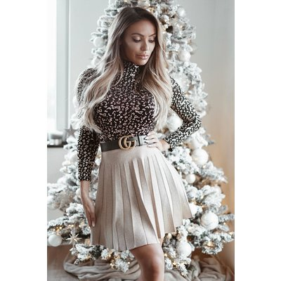JAIMY Golden sparkle skirt