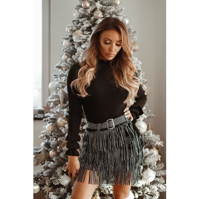 JAIMY Party skirt black silver