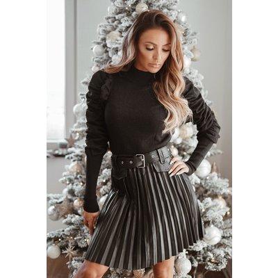 JAIMY Belt leatherlook plissé skirt