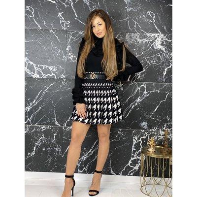 JAIMY Amella skirt black white