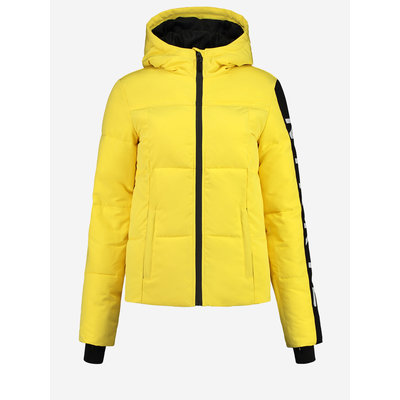 NIKKIE Logo ski Jacket yellow
