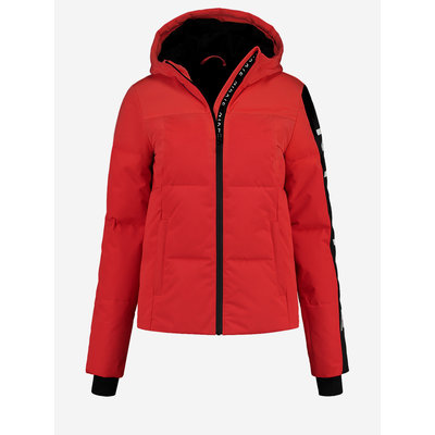 NIKKIE Logo ski Jacket red