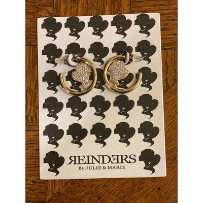 REINDERS Headlogo hoops small diamonds gold