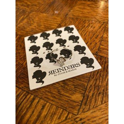 REINDERS Headlogo ring diamonds silver