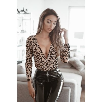 JAIMY Always on my mind leopard body beige
