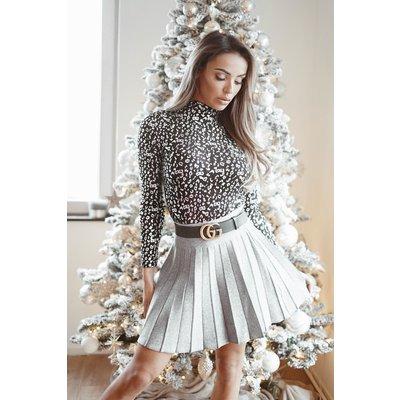 JAIMY Silver sparkle skirt