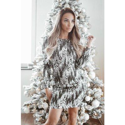 JAIMY Concert sequin dress black silver
