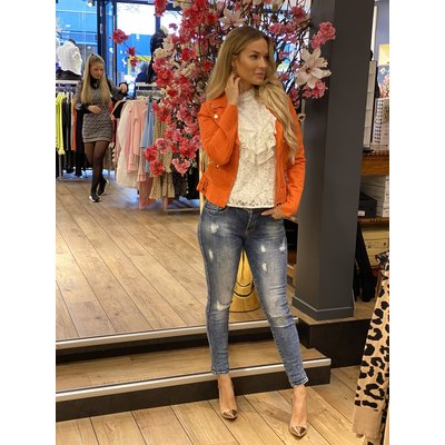 JAIMY Maud suede jacket orange