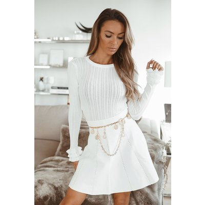 JAIMY Ruffle limited top white