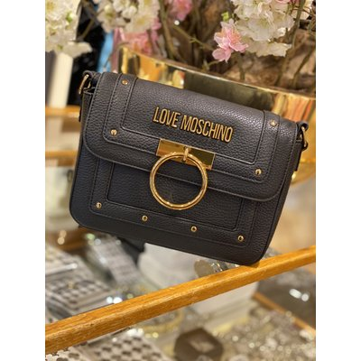 LOVE MOSCHINO The golden ring bag black