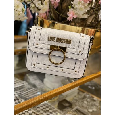 LOVE MOSCHINO The golden ring bag white