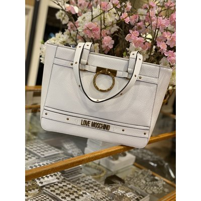 LOVE MOSCHINO The golden ring bag big white