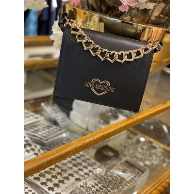 LOVE MOSCHINO Chain heart bag black