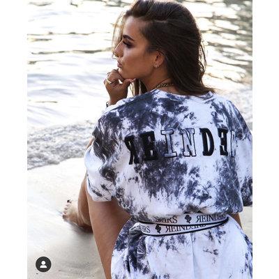 REINDERS Reinders t-shirt tie dye white/black