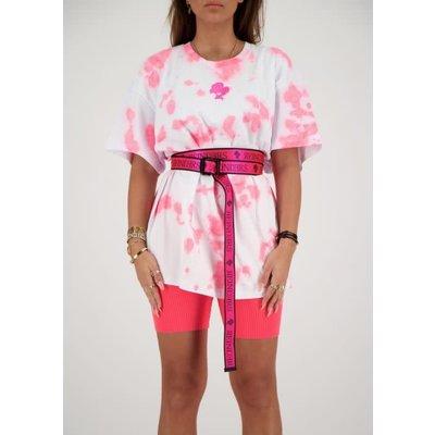 REINDERS Buckle belt neon pink