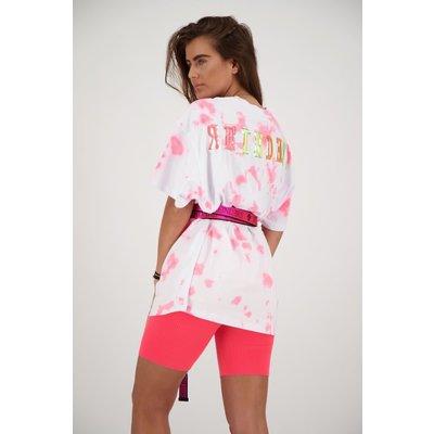 REINDERS T shirt Reinders tie dye white pink