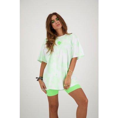 REINDERS T shirt Reinders tie dye white neon