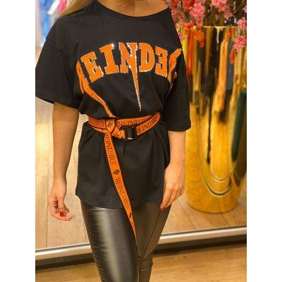 REINDERS Bolt oversized t-shirt black orange neon