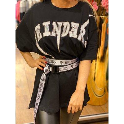 REINDERS Bolt oversized t-shirt black silver