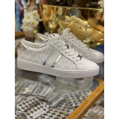 MICHAEL KORS Mini MK logo bright white sneakers
