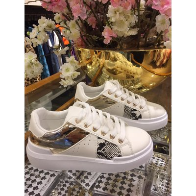 JAIMY Tess snake sneakers gold