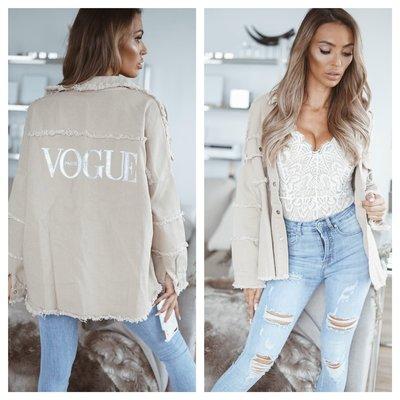 JAIMY Vogue paris denim jacket beige