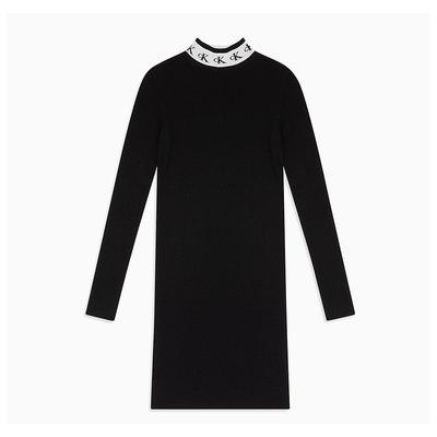CALVIN KLEIN Monogram tape sweaterdress