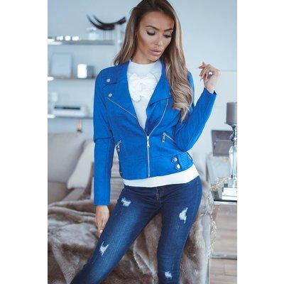 JAIMY Lindsay suedine jacket royal blue