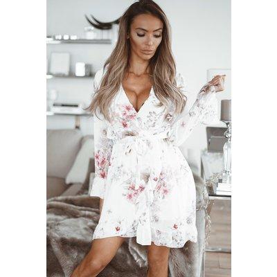 JAIMY Mila ruffle dress white