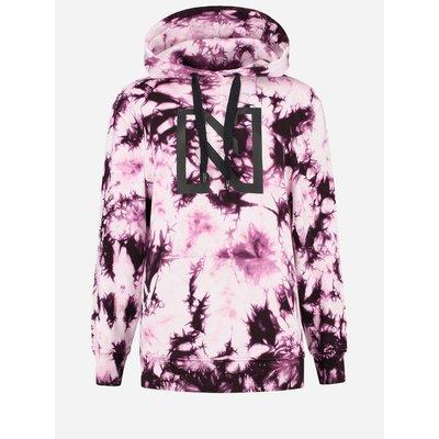 NIKKIE Tie dye hoodie merlot/black