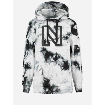 NIKKIE Tie dye hoodie black/white