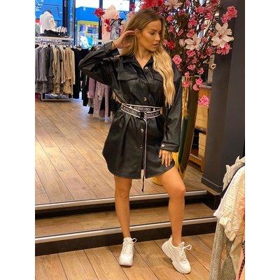 JAIMY Calvin oversized leather look dress